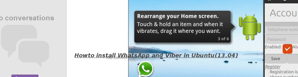 Howto install WhatsApp and Viber in Ubuntu 13.04